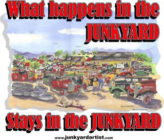 JUNKYARD TRUCK T SHIRT V8 FORD CHEVY MOPAR GM FLATHEAD