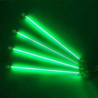 Under Car Auto Underbody 4 Piece CCFL Neon Kit Lights Green UnderCar
