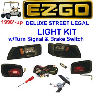 EZGO TXT Golf Cart LIGHT Kit w/ Turn Signal & Brake Switch (Free