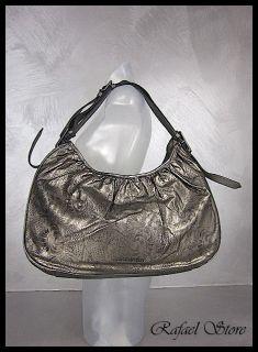 BURBERRY Woman Shoulder Bag All Avondale Dark Nikel Leather Luxury New
