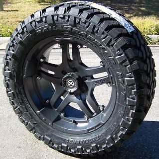 18 TEFLON ATX ARTILLERY WHEELS & NITTO TRAIL GRAPPLER JEEP WRANGLER