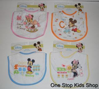 MICKEY MINNIE MOUSE Disney BABY BIB Feeding Boy Girl