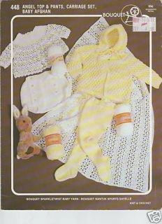 Bouquet Angel Top & Pants, Carriage Set, Baby Afghan