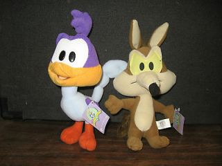 Looney Tunes   Baby Road Runner and Baby Wile E Coyote 7 8 Plush