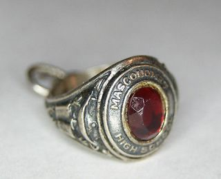 Rare Vintage Danecraft Sterling Silver High School Class Ring Charm