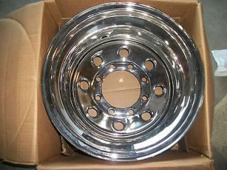 15 x 10 8 lug big axle style chrome wheel NIB new Jeep truck $108