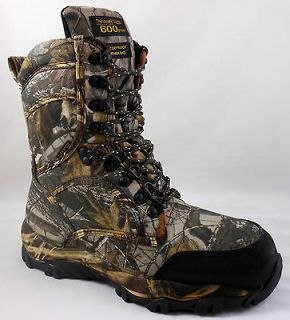 NEW MENS HI AD TEC BOOTS   9.5  REALTREE HARDWOODS CAMO HUNTING SHOES