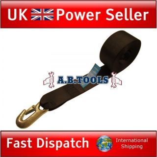 Trailer Winch Strap for Boat, Jetski and Car Trailers 7m Webbing TR106