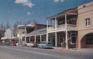 WEAVERVILLE, CALIFORNIA Street Scene Postcard