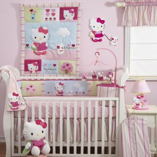 Hello Kitty & Puppy 3 Piece Baby Crib Bedding Set by Bedtime Originals