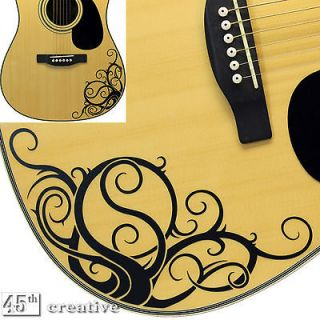 Yin Yang Vine   Acoustic guitar graphic decal   fits Gibson epiphone