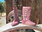 Womens UGG Lo Pro Denim Jacquard Tea Rose Pink US 7 UK 5.5 EU 38 Boots