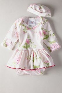 NWT Mad Sky Baby Girls Skirted Romper + Hat 3 Months Pink Floral