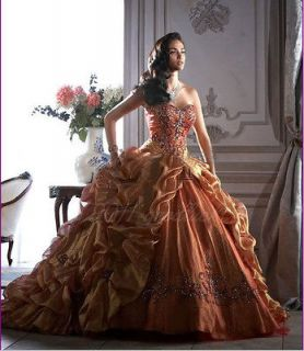 2012 New Masquerade Wedding Dress Bridal Evening Prom Ball Gown Custom