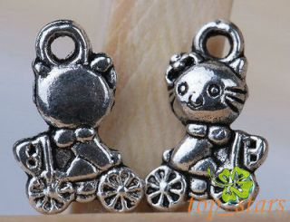 20 Pcs Tibetan silver bali style hello kitty bike charms Pendant 12