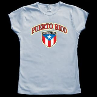 Puerto Rico Rican Flag Baby Doll Tee JUNIOR T SHIRT