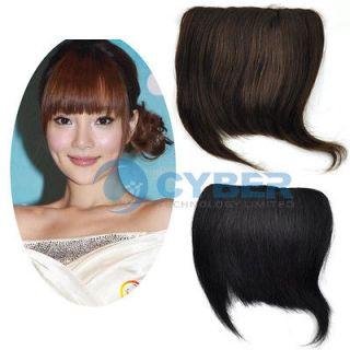Three Colors Fashion Clip On Bang Fringe Ladys Human Hair Extension