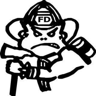 Vinyl Sticker Fireman Decal Bad Boy Face 1 For Boat RV Truck Window