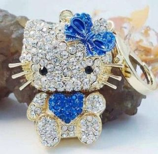 Heart Hot Pink Hello Kitty Fashion Cat Rhinestone Crystal Purse Bay