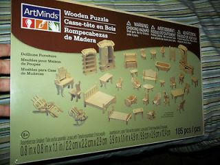 NEW Wooden Doll House Furniture Kit, easy to put together