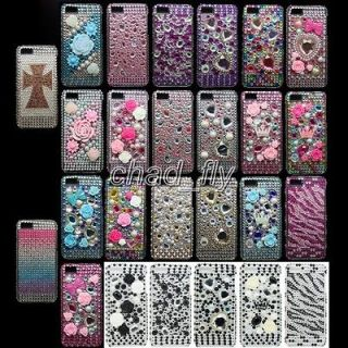 Bling Crystal Diamond Rhineston Case Cover For Iphone 5 5th 5G Gen 26