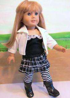 American Girl Battat 18 Doll Clothes 5pc SKIRT Top LEGGINGS Jacket