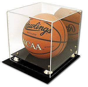 WALL MOUNT FULL SIZE NBA BASKETBALL UV PROTECTION ACRYLIC DISPLAY CASE