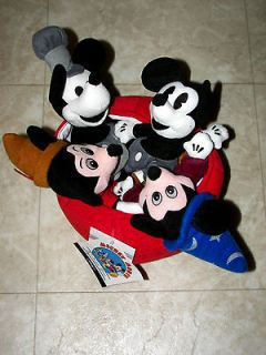 DISNEY EXCLUSIVE 70TH ANNIVERSARY MICKEY MOUSE BEANIE BABY SET NWT
