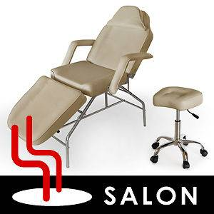 Beauty Salon Tattoo Facial Bed Massage Table Chair With Stool Combo