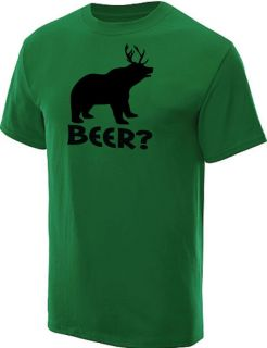 BEER? DEER BEAR T SHIRT HUNTING FUNNY TEE KELLY L