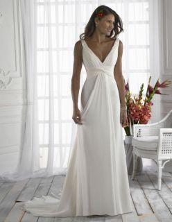 Beach Chiffon Wedding Bridal Prom Evening Dress*Custom