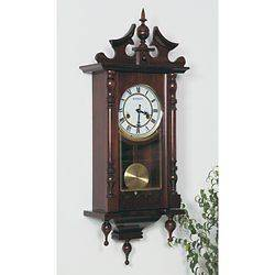 Beautifully Crafted Kassel™ 15 Day Wood Wall Clock with Chimes