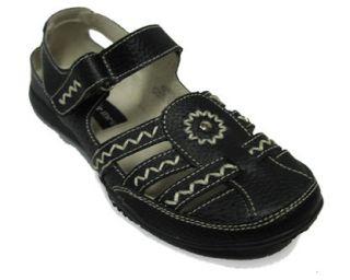 Bernie Mev Womens April Solid Black Pebble Closed Toe Sandal