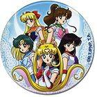 Sailor Moon   Venus, Mercury, Mars, Jupiter, Moon Characters 3 Button