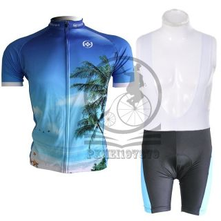 Sports Wear Bicycle Shirt Suits Bike Outfit Cycling Jersey + Bib