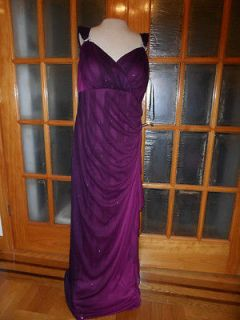 10940w Made USA Betsy&Adam New Purple glittering Party Dress Size18w