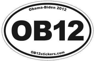 OB12 Pro Obama Biden Oval Sticker (pack of 100) bumper 2012 Pro