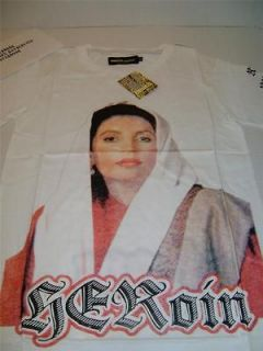 Drugs Couture Heroin(e) Benazir Bhutto T SHIRT L Hellz Bellz Mama Dime