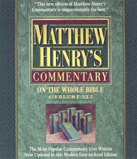 Matthew Henrys Commentary on the Whole Bible Set by Matthew Henry