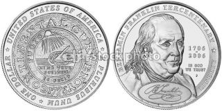 Dollar, 2006, Benjamin Franklin, 300th Birth Anniversary