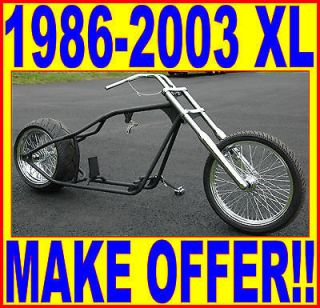 250 TIRE RIGID HARDTAIL BOBBER CHOPPER ROLLING CHASSIS 86 03 HARLEY