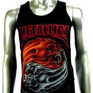 Shirt Tank Top Vest Biker Rider Heavy Metal Rock Punk Men V7