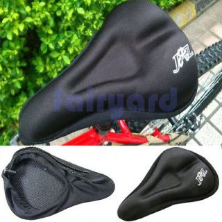 Black Bike Cycling 3D Silicone Soft Gel Thick Saddle Bicycle Seat