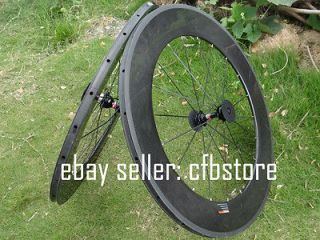 Wheel   Full Carbon Road bike Tubular Rim Wheelset Novatec Hub Spokes