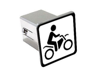 Dirt Pit Bike Off Road Sign Symbol   2 Tow Trailer Hitch Cover Plug