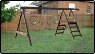 BUILD A SWING SET FOR YOUR OUTDOOR BACKYARD PLANS H1
