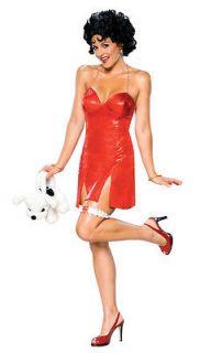 New Womens 40s Costume Betty Boop Red Cupie Doll Dress Medium