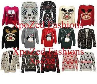 Mens Ladies Novelty Jumper Sweater Retro Christmas Xmas Snowman Winter