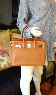 Brand New 100% AUTH HERMES BAG BIRKIN 30 TOGO CAMEL COLOR PALLADIUM