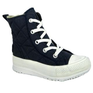 Converse 532326 Alice Mid Womens Quilted Textile Lace Up Boots   Navy